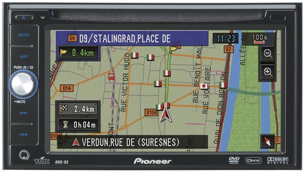 PIONEER AVIC-D3BT autoradio dvd GPS avec disque dur navigation europe bluetooth